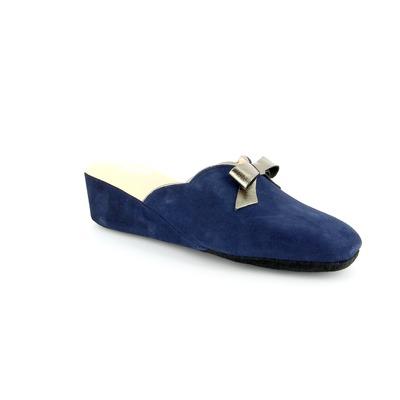 Pantoufles Delaere Bleu