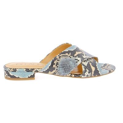 Muiltjes - slippers Di Lauro Blauw