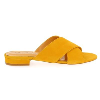 Muiltjes - slippers Di Lauro Geel