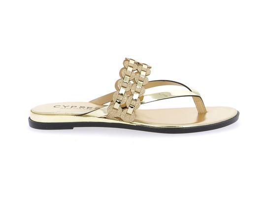 Muiltjes - slippers Cypres Goud