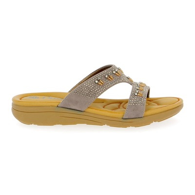 Muiltjes - slippers Cypres Taupe