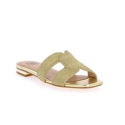 Muiltjes - slippers Bibilou Goud