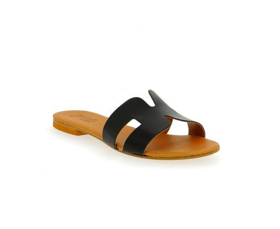 Muiltjes - slippers Delaere Zwart