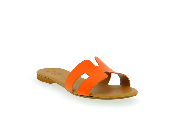 Muiltjes - slippers Delaere Oranje