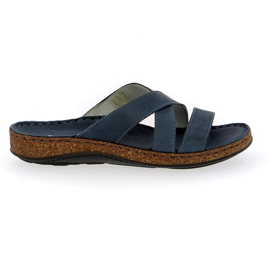 Muiltjes - slippers Cypres Blauw