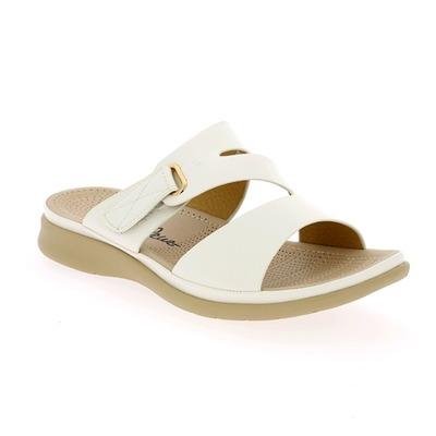 Muiltjes - slippers Cypres Wit