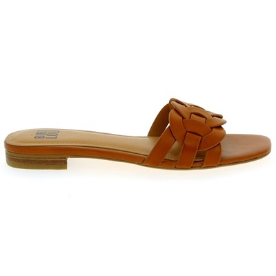 Muiltjes - slippers Bibilou Cognac