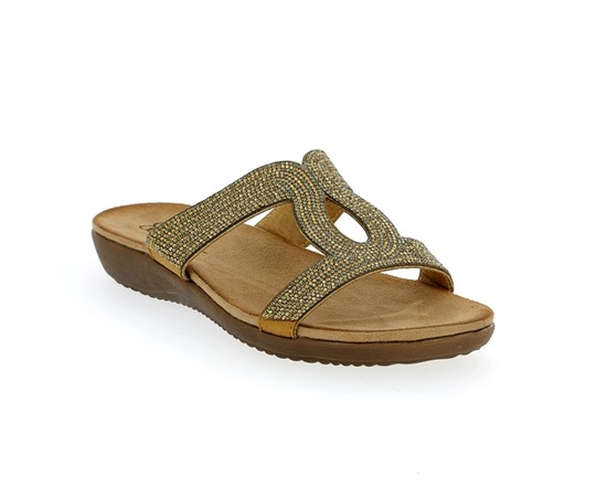Muiltjes - slippers Cypres Brons