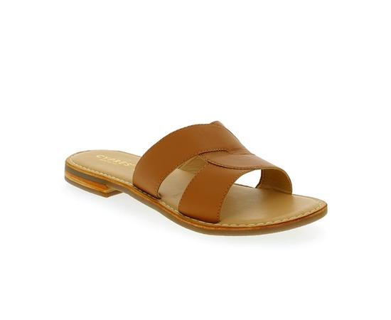 Muiltjes - slippers Walkside Cognac