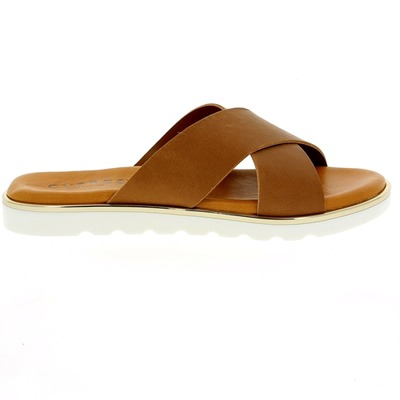 Muiltjes - slippers Cypres Cognac