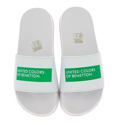 Muiltjes - slippers Benetton Wit