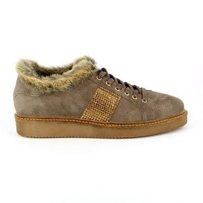 Veterschoenen River Wood Taupe