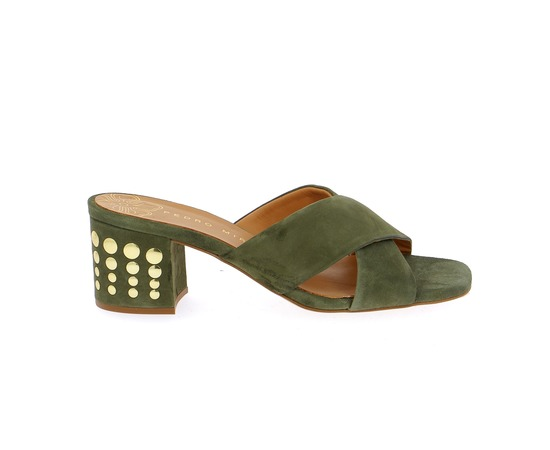 Muiltjes - slippers Miralles Kaki