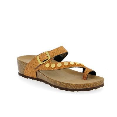 Muiltjes - slippers Scapa Brons