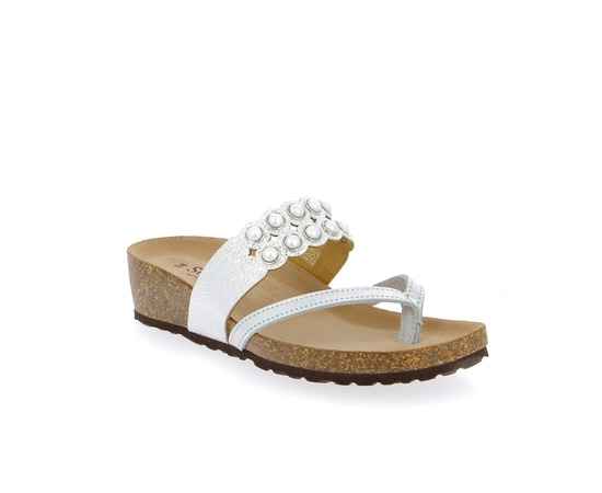 Muiltjes - slippers Scapa Zilver