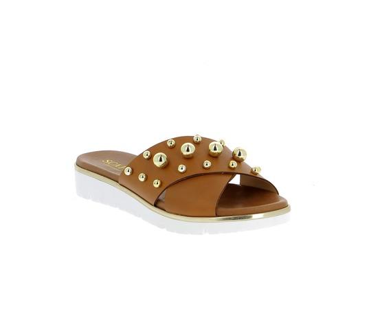 Muiltjes - slippers Scapa Cognac