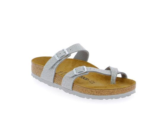 Muiltjes - slippers Birkenstock Zilver