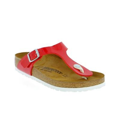 Muiltjes - slippers Birkenstock Rood