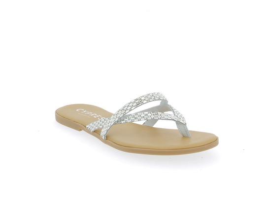 Muiltjes - slippers Cypres Zilver