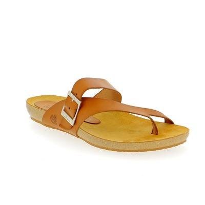 Muiltjes - slippers Yokono Cognac