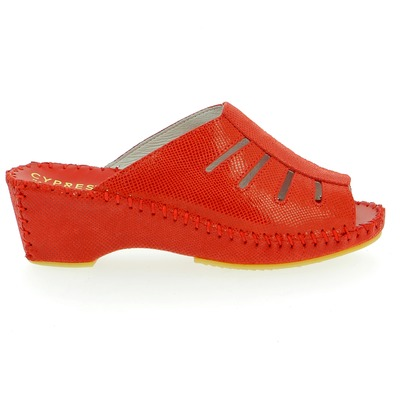 Muiltjes - slippers Cypres Rood