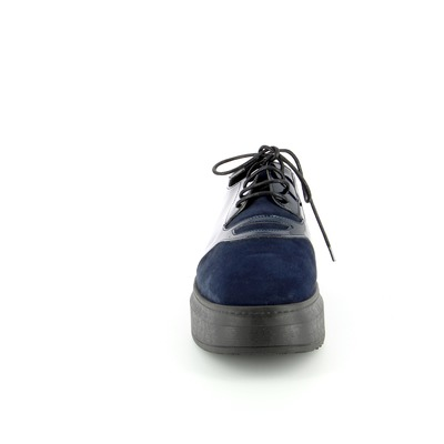 Veterschoenen Three6five Blauw