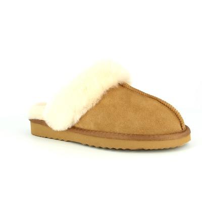 Pantoffels Cypres Camel