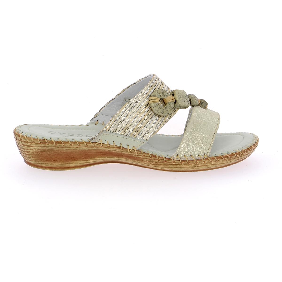 Cypres Muiltjes - slippers zilver