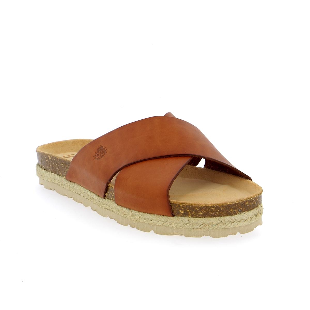 Yokono Muiltjes - slippers cognac