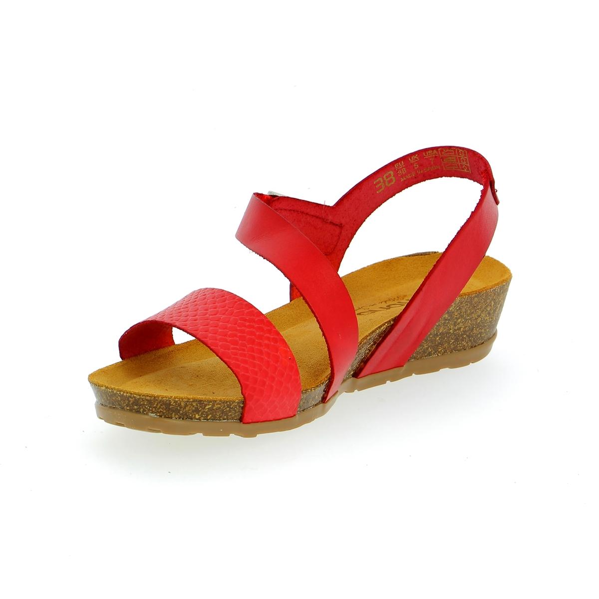 Sandalen Yokono rood