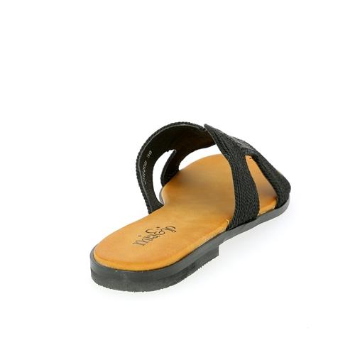 Cypres Muiltjes - slippers zwart