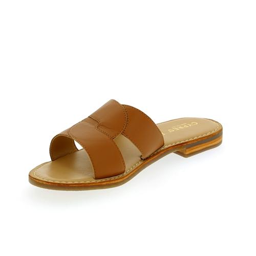 Walkside Muiltjes - slippers cognac