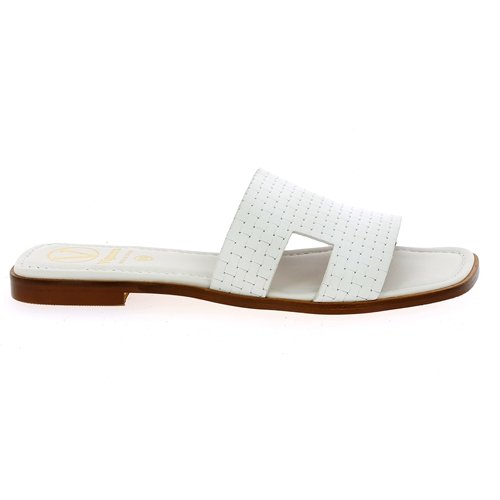 Viguera Muiltjes - slippers wit