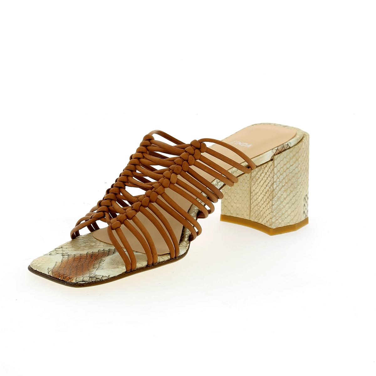 Zinda Muiltjes - slippers cognac
