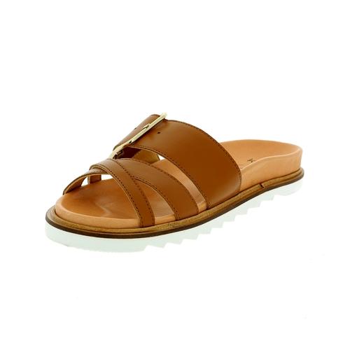 Kmb Muiltjes - slippers cognac