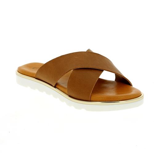 Cypres Muiltjes - slippers cognac