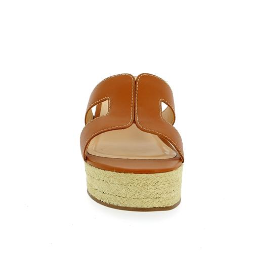 Delaere Muiltjes - slippers cognac