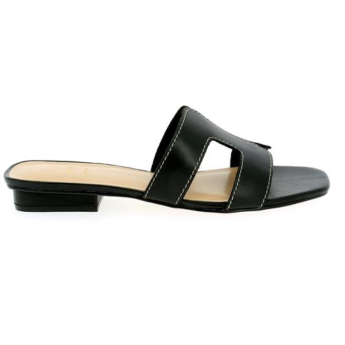 Delaere Muiltjes - slippers zwart