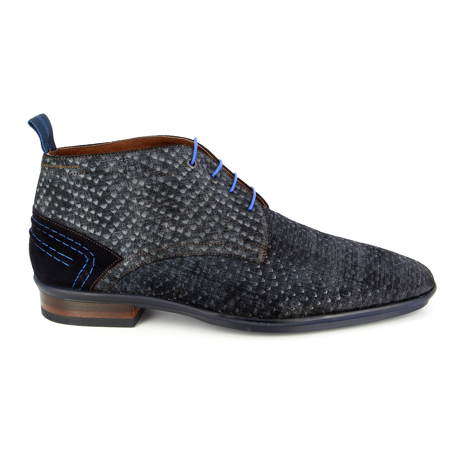 Floris Van Bommel Bottines bleu