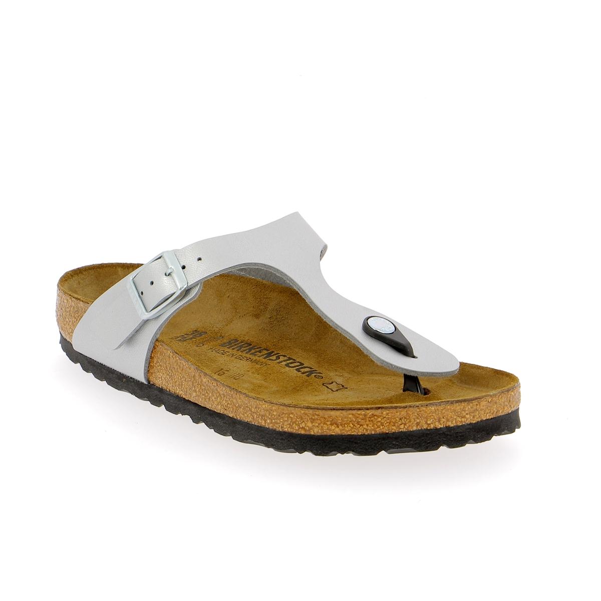 Birkenstock Muiltjes - slippers zilver