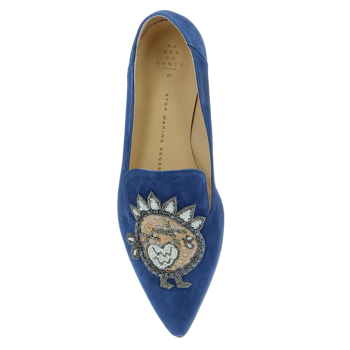 Svnty Moccassins bleu