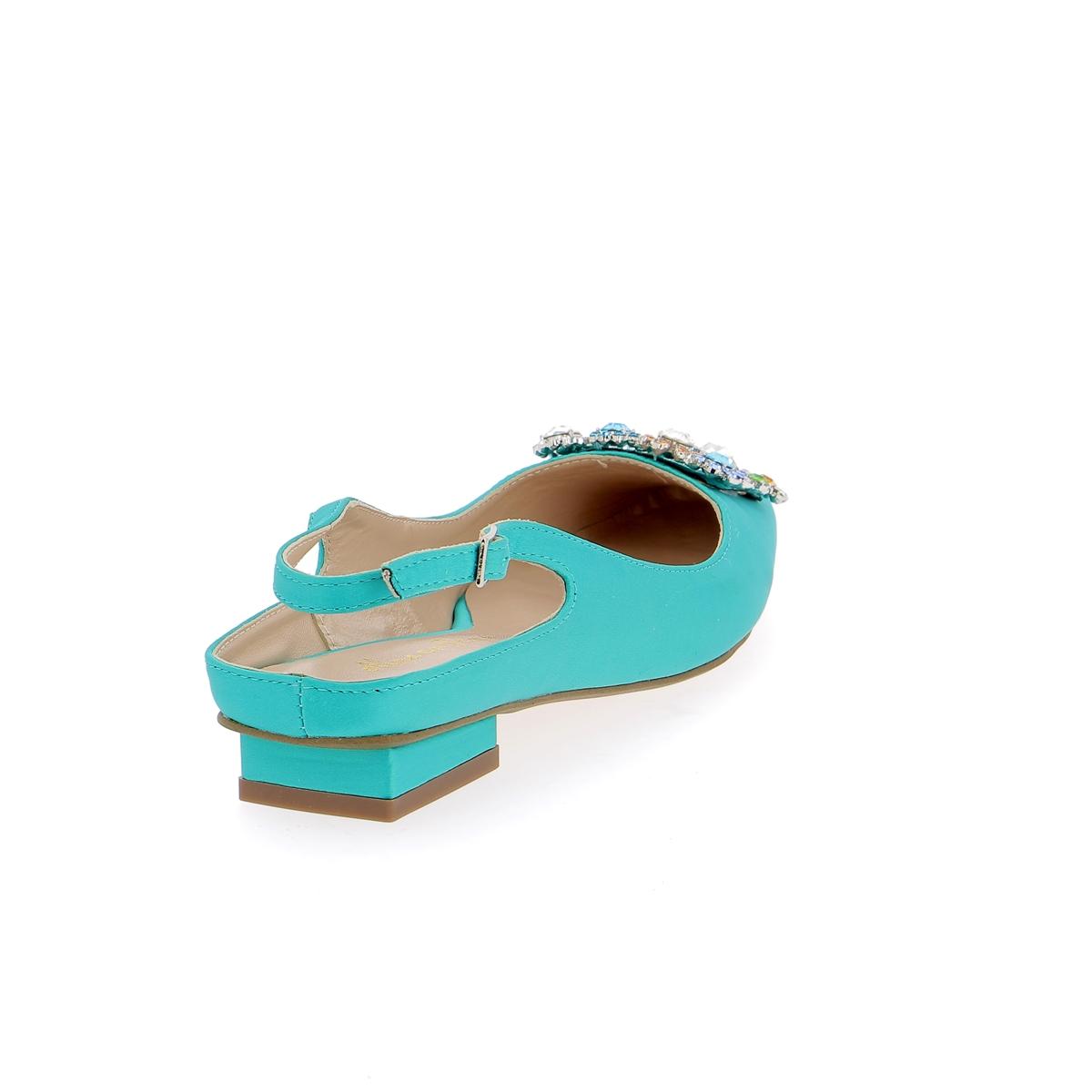 Alma En Pena Ballerinas turquoise
