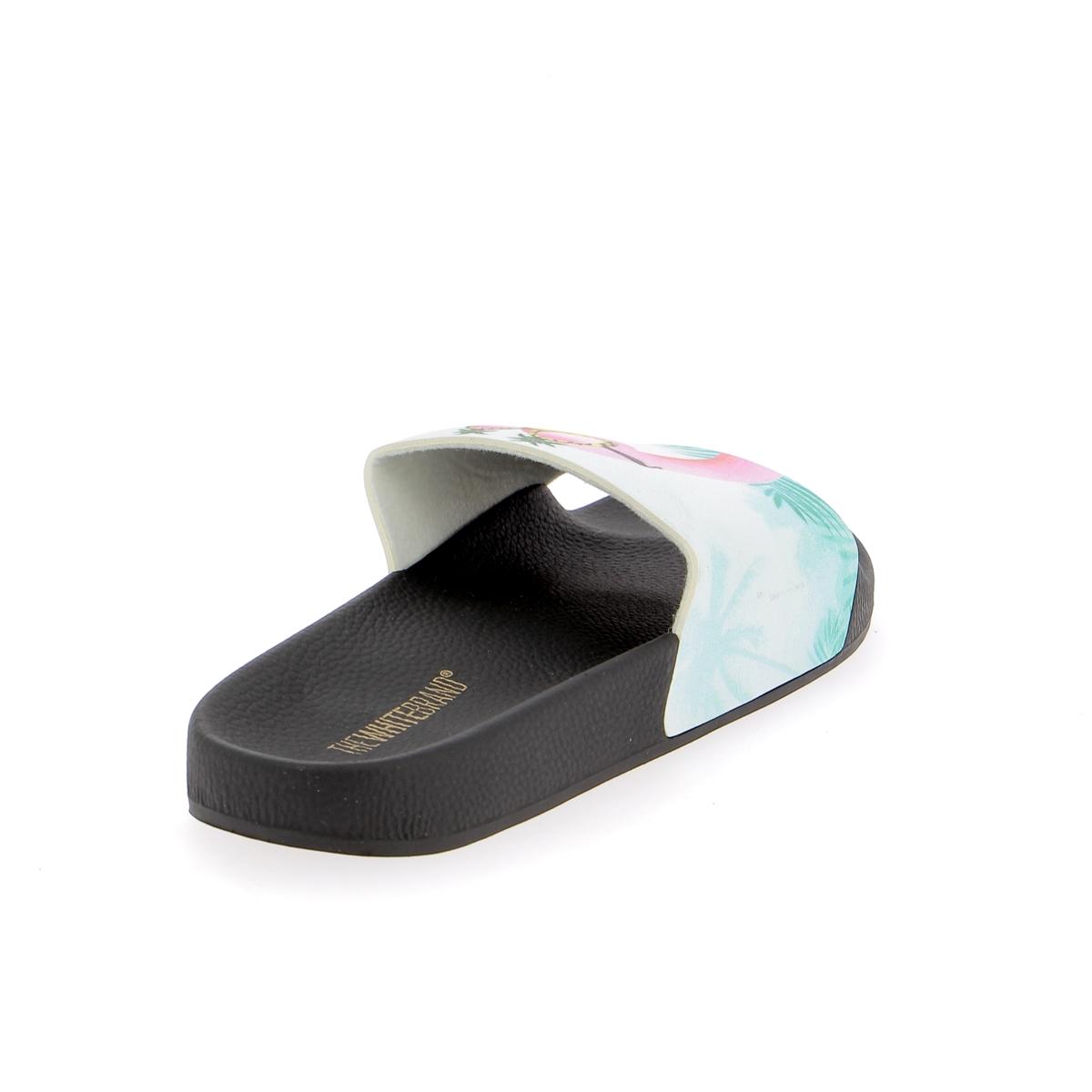 White Brand Muiltjes - slippers zwart