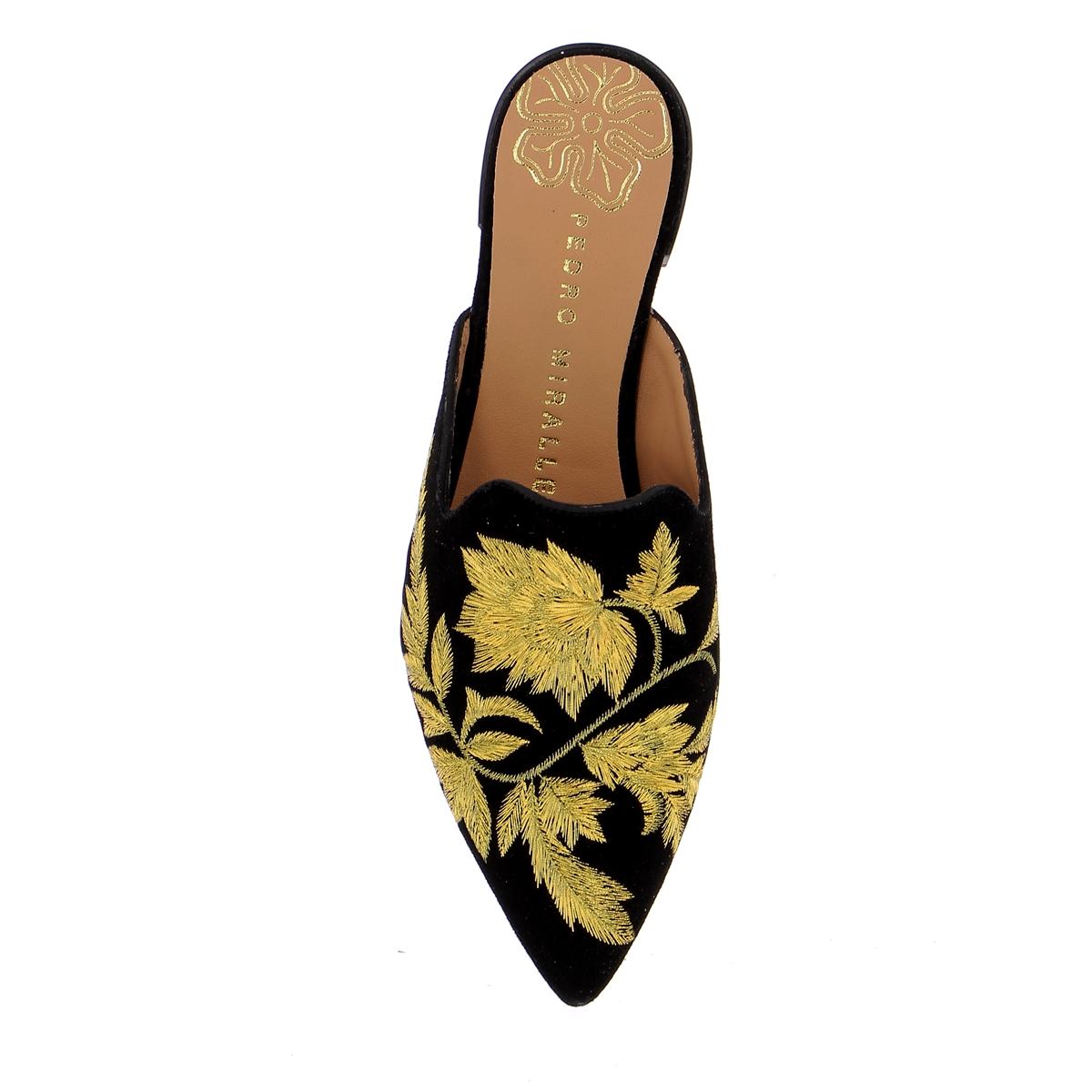 Miralles Muiltjes - slippers zwart