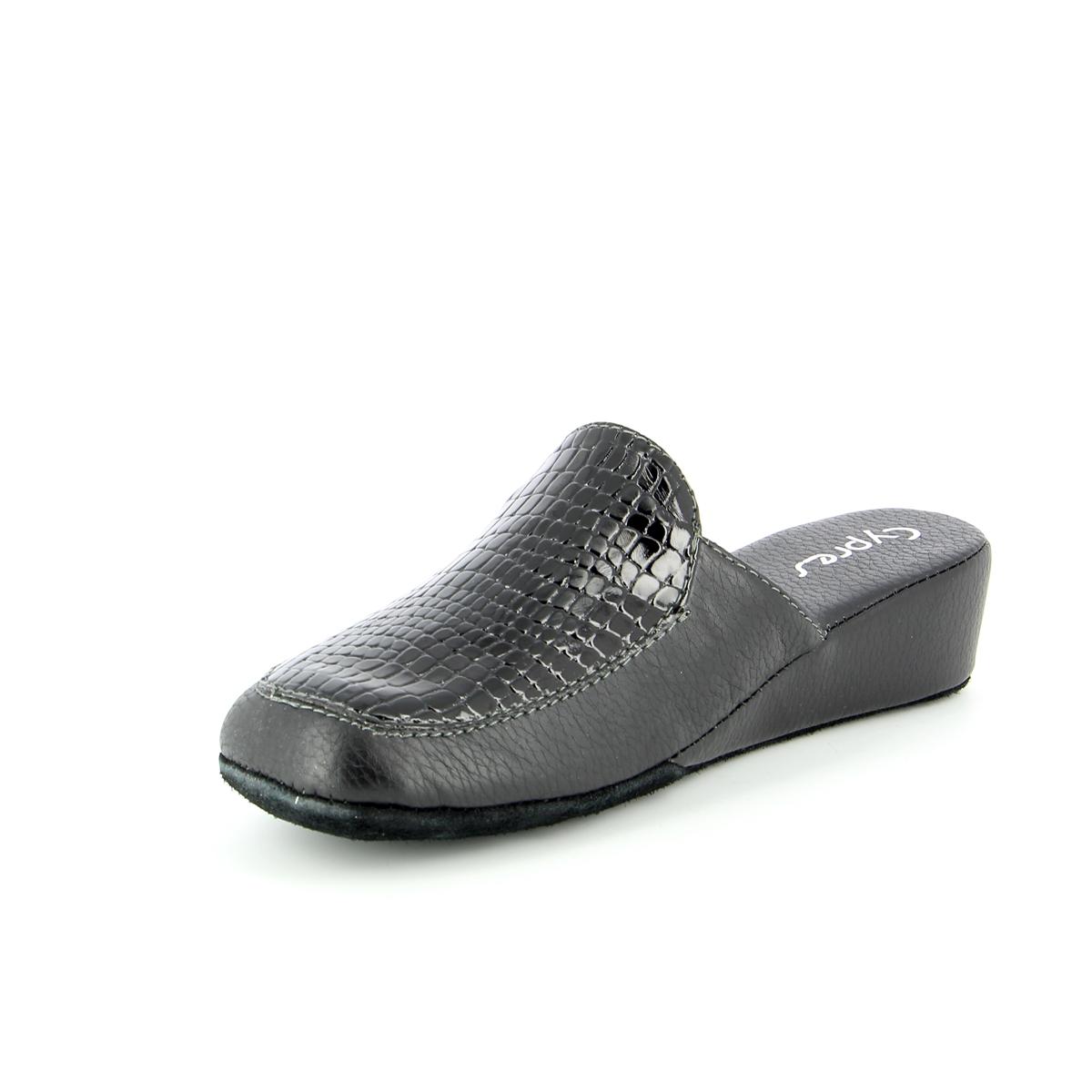 Cypres Pantoufles noir