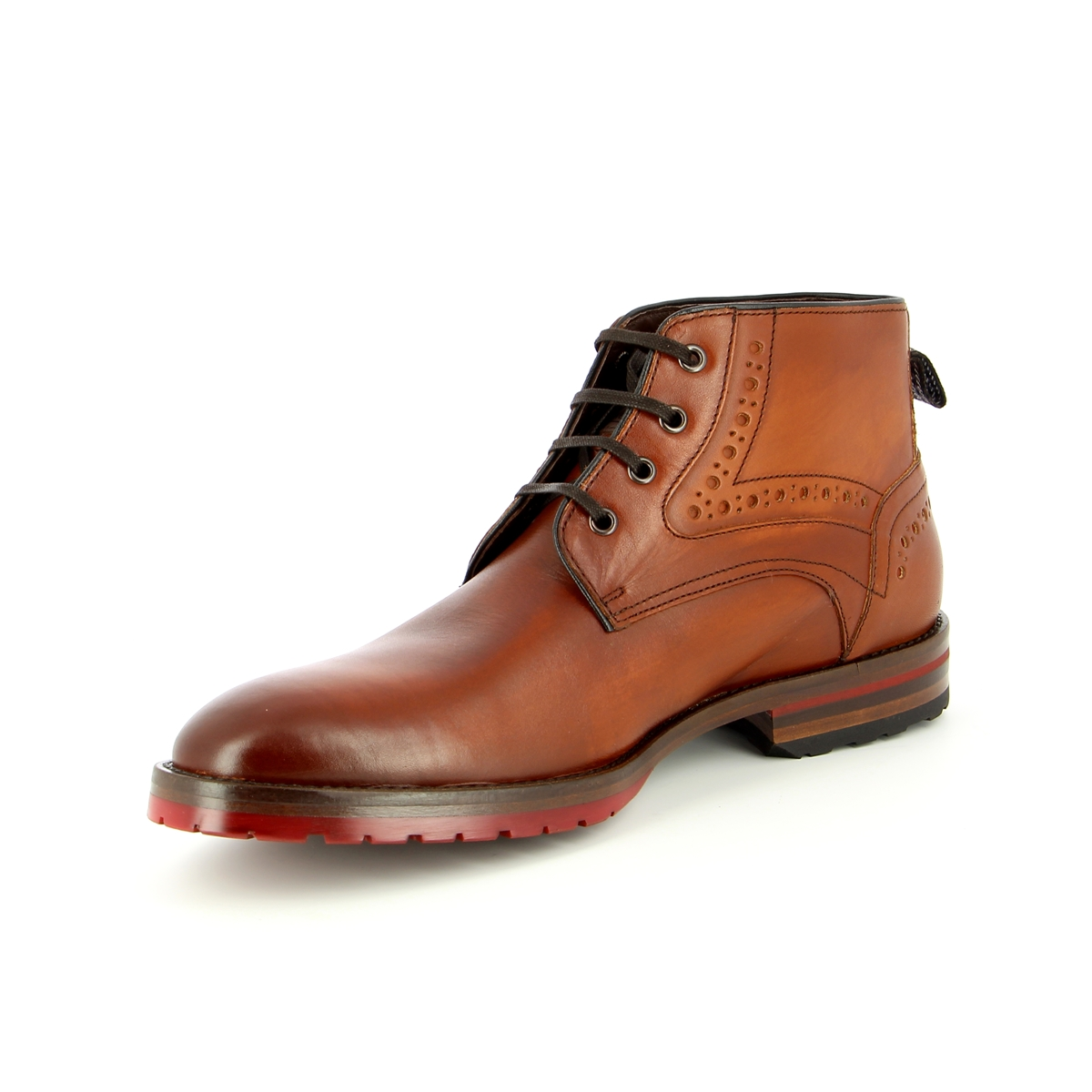 Floris Van Bommel Bottines cognac