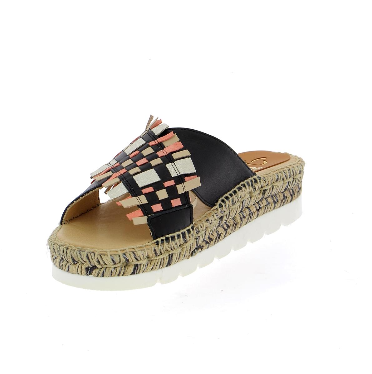 Kanna Muiltjes - slippers zwart