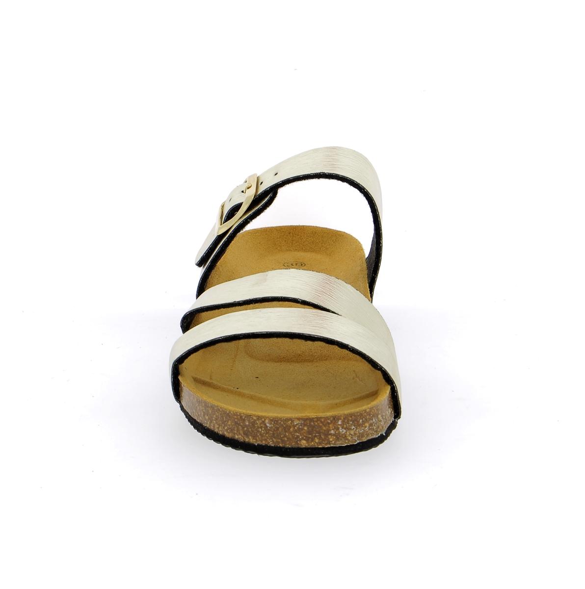 Cypres Muiltjes - slippers platinum