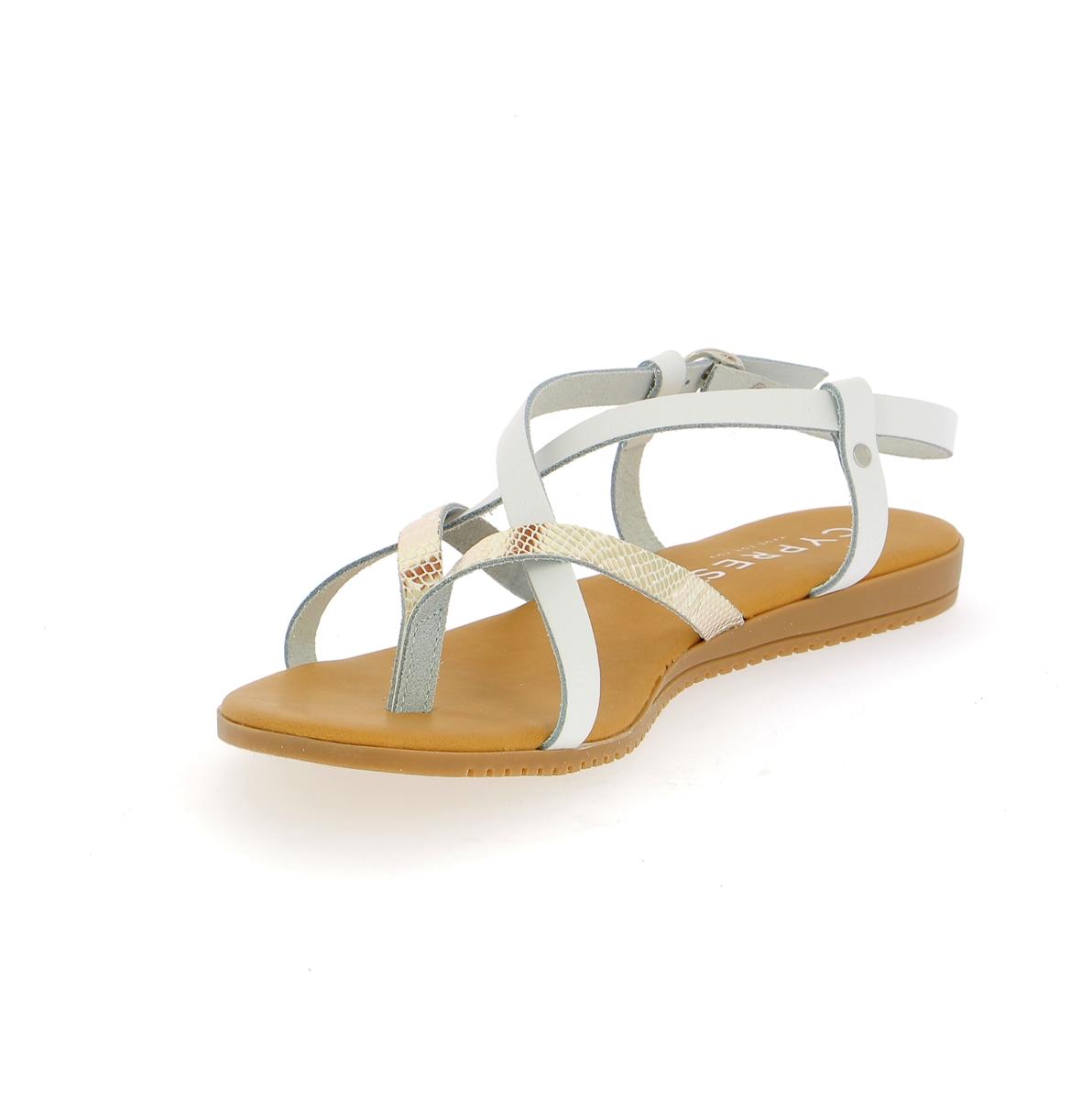 Cypres Sandales blanc