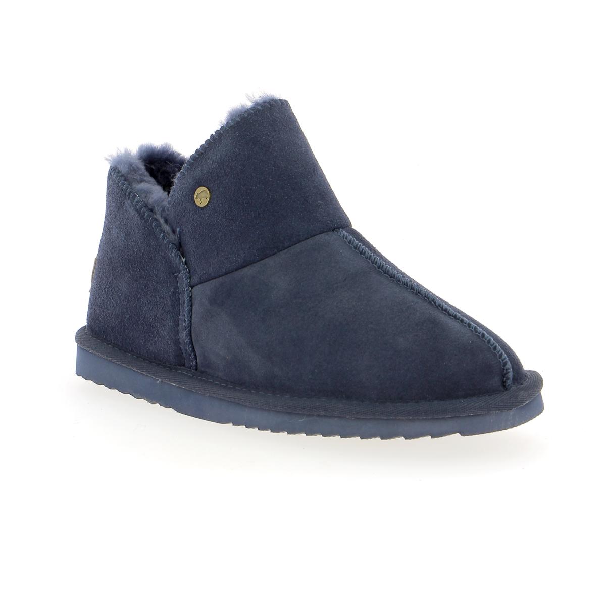 Warmbat Pantoffels blauw